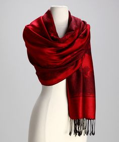 Red & Black Paris Cashmere Scarf