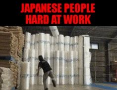 Japanese People Hard At Work