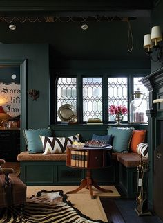dark and cozy den.. perfect for a snowy afternoon in