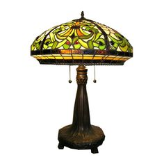 tiffany style lamps | Warehouse of Tiffany WHT001 2 Light Style Classic Table Lamp
