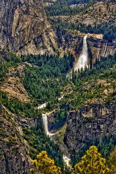 Nevada and Vernal Falls, Yosemite National Park, California