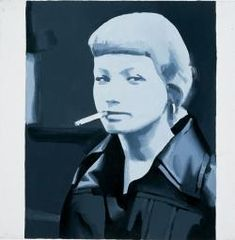 Girl Smoking (Dominika) Wilhelm Sasnal