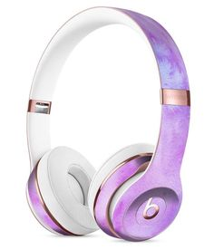 Teal to Pink 00424 Absorbed Watercolor Texture Full-Body Skin Kit for the Beats by Dre Solo 3 Wireless Headphones