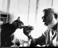 Ernest Hemingway - He had the 6 toed cats known as Hemmingway cats. My Kooky kitty had a litter of them once.