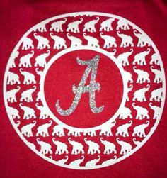 Alabama Monogram Frame shirt by LuvBugsMonogramming on Etsy, $25.00