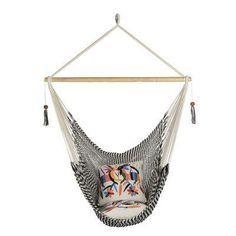 Large size zebra (black and white) colour chair hammock.Super comfortable inside or outside. Sit back, relax and stretch your feet out. A hammock chair gives that floating supported hammock feeling while taken up less space. It only requires a single Rope Hammock, Hanging Hammock Chair, Hammock Swing, Swinging Chair, Hammock Ideas, Hanging Chairs, Colorful Chairs, Cool Chairs, Desk Chairs
