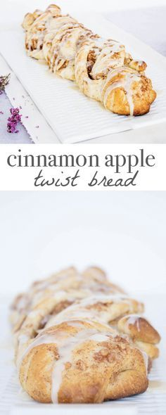 Cinnamon Apple Twist Bread. Recipe via MonPetitFour.com