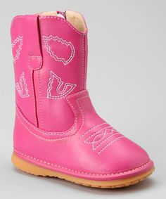 Laniecakes Hot Pink Cowgirl Squeaker Boot