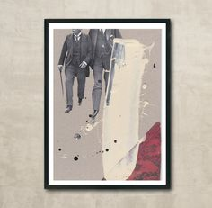 This work is titled The Conversation, and is made in my workshop in Nørresundby, Denmark. Where I work with paper etc. creating collages and posters. You can buy it through society6.com, shipping worldwide. And in my Danish webshop on MANGT.dk. Follow my work on Instagram, Facebook and society6.com. Search for MANGT.