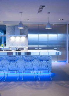 blue kitchen design