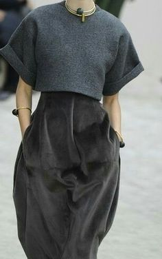 More for proportion than specifics: shell over dress.