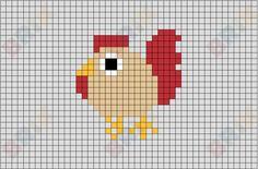 Chicken from BrikBook.com #Animal #Originals #Chicken #Bird #pixel #pixelart #8bit Shop more designs at http://www.brikbook.com