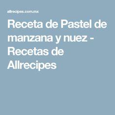 Receta de Pastel de manzana y nuez - Recetas de Allrecipes