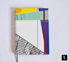 "Cuaderno ""Patchwork"" A5   @Fixioana bookbinding / 100% hecho a mano - 100% hecho con amor   .- www.fixioana.tumblr.com www.facebook.com/fixioanaa"
