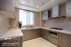 最新U型厨房橱柜效果图