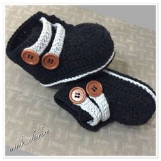 (Crochet Baby Booties Boys) - 34 trendy ideas for crochet baby boy socks ideas Crochet Baby Sandals, Crochet Baby Boots, Crochet Baby Clothes, Crochet For Boys, Boy Crochet, Crochet Cap, Knitted Baby, Baby Knitting Patterns, Baby Patterns
