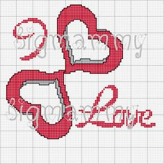 amorevitacrocette Mini Cross Stitch, Cross Stitch Heart, Cross Stitch Embroidery, Valentine Heart, Valentine Crafts, Wedding Cross Stitch Patterns, Plastic Canvas Stitches, Graph Paper Art, Diy And Crafts Sewing