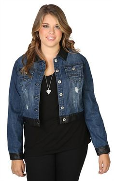 Ashley Stewart Women's Plus Size Sequin Denim Jacket Indigo 12 ...