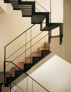 architecture + other stuff for the visually inclined. Modern Interior Design, Interior Architecture, Stair Railing, Stair Idea, Railings, Entry Stairs, Stairway To Heaven, Stairways, Scale