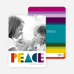 Peace: Holiday Photo Card from Paper Culture
