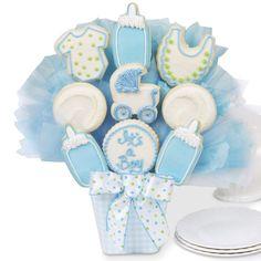 images of cookie bouquets   It's A Boy Cutout Cookie Bouquet
