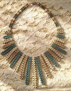 Designed and beaded by Sharon A. Designed and beaded by Sharon A. Beaded Necklace Patterns, Necklace Designs, Beaded Earrings, Beaded Bracelets, Seed Bead Necklace, Diy Necklace, Necklace Tutorial, Necklaces, Diy Schmuck