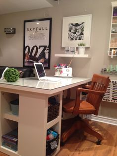 My craft room desk.  Check out my craft room tour on YouTube:  http://youtu.be/N-04zGr0e24