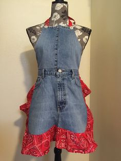 A personal favorite from my Etsy shop https://www.etsy.com/listing/291897815/denim-apron-made-from-recycled-jeans
