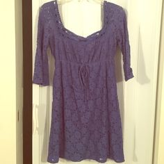 Very pretty blue lace dress Pre-loved laundry by Shelli Segal sun dress super cute and easy to throw on xs Laundry by Shelli Segal Dresses Mini