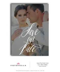 Save The Date Template  Wedding Announcement by FOTOVELLA Save The Date Templates, Wedding Templates, Announcement Cards, Wedding Announcements, Postcard Layout, Photo Layouts, Save The Date Cards, Photo Cards, Dating