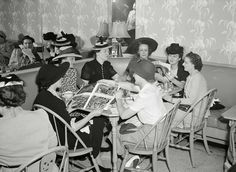 Detroit, Michigan. Shoppers at lunch at the Crowley-Milner department store in July of 1941. (Library of Congress)