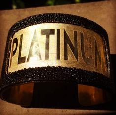 #MirandaLambert wears Rustic Cuff! This custom cuff made for Miranda to commemorate her new album, Platinum! #Platinum