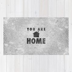 """""""You Are Home"""" Rug by Josh Franke on Society6."""
