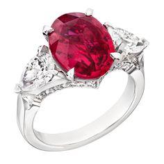 Fabergé Devotion Ruby 4.53ct Ring #Fabergé #ruby #ring