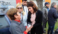 Gisela Zamora recorrió las calles de Troncos del Talar