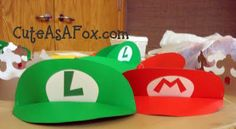 Mario and Luigi poster board visor tutorial...