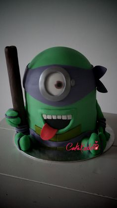 Ninja Turtle Minion  on Cake Central