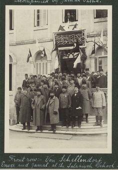 Ottoman & Filistin & Enver ve Cemal, Paşalar Salahiye Okulunda, Kudüs 1916