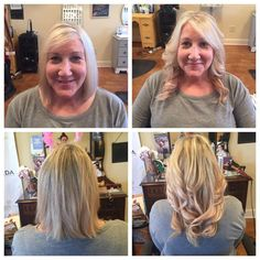 Short to long in just a few hours with Vomor Extensions... Brandie's work.