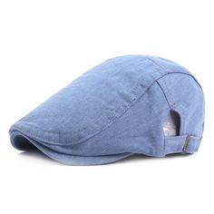 Fasbys 2017 New Fashion Headwear Men's Hats Casquette Casual Caps Denim Gorras Planas Male Beret Vintage Flat Cap Boinas Berets