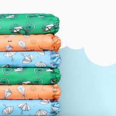 3 NEW prints available now! Say hello to little bicycle, fly away and rainy days || Bambino Mio