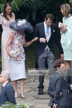 Caroline, Princess of Hanover arrives at Pierre Casiraghi and Beatrice Borromeo Wedding Ceremony on August 1, 2015 in Verbania, Italy.