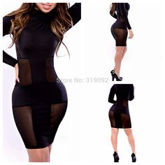 2014 New arrive fashion hot Black Dress hollow out dress for women's night club
