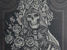 Sacred Virgin - Screen Print by Derrick Castle