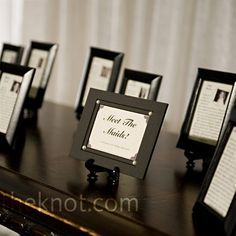Little bio's about each of the people in the wedding party, LOVE IT, can't forget about all the other people that make the wedding do-able!