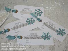 November 2014 Paper Pumpkin ~ Simply Snowflake tags #paperpumpkin #kit #stampinup #stamptasticdesigns