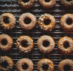 Buttermilk-Glazed Kabocha Doughnuts with Candied Thyme by carey nershi, via Flickr