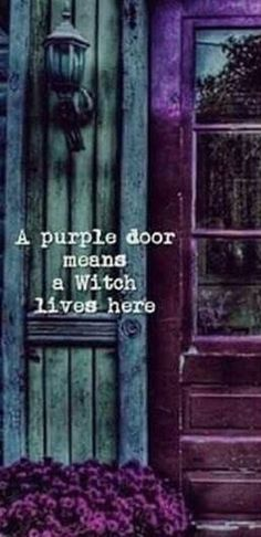☽✪☾. Ha ha. My house came with a purple door! I was going to change it but if this is true i will keep it proudly.