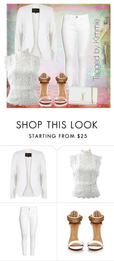 """""""All white at an all white"""" by taggedbykimmie15 on Polyvore featuring River Island, Oscar de la Renta, H&M and Yves Saint Laurent"""