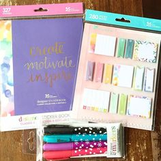 New @erincondren sticker book - edition two, sticky notes and wet erase markers!!! Launch day is June 1st, full review of everything on YouTube.com/inspiredblush  Sign up with the link in my bio to save $10! And pre apologizing for spamming you with pictures